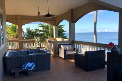Balcony Overlooking the Grounds and Full Ocean View - Maria's Side