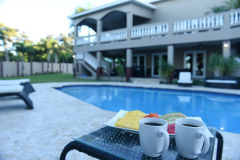 Take your team or morning coffee by the pool